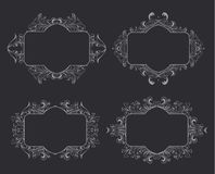 floral τρύγος πλαισίων Στοιχείο για το σχέδιο Στοκ φωτογραφία με δικαίωμα ελεύθερης χρήσης