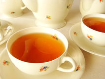 floral τσάι υπηρεσιών Στοκ φωτογραφία με δικαίωμα ελεύθερης χρήσης