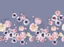 Floral τυπωμένη ύλη δελτίων Απεικόνιση αποθεμάτων