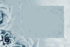 Floral τυρκουάζ υπόβαθρο κρητιδογραφιών Τυρκουάζ αυξήθηκε λουλούδι Υπόβαθρο για την κάρτα r στοκ εικόνες