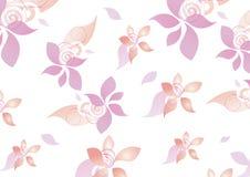 Floral υπόβαθρο κοριτσιών εφήβων σχεδίων διανυσματική απεικόνιση