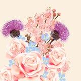 Floral υπόβαθρο με τα λουλούδια Στοκ Φωτογραφίες