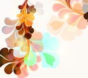 Floral υπόβαθρο με τη ζωηρόχρωμη psychedelic διακόσμηση Στοκ εικόνες με δικαίωμα ελεύθερης χρήσης