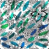 Floral υπόβαθρο με το ρύζι Στοκ εικόνες με δικαίωμα ελεύθερης χρήσης