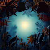 Floral υπόβαθρο με το φως μυστηρίου Στοκ εικόνες με δικαίωμα ελεύθερης χρήσης