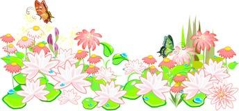 Floral υπόβαθρο λουλουδιών Garden Στοκ Φωτογραφίες