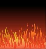 Floral υπόβαθρο πυρκαγιάς ελεύθερη απεικόνιση δικαιώματος