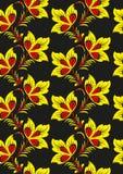 Floral υπόβαθρο στο παραδοσιακό ρωσικό ύφος Khokhloma Στοκ εικόνες με δικαίωμα ελεύθερης χρήσης