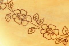 Floral υπόβαθρο σχεδίων αντικών υφαντικό Στοκ Εικόνα