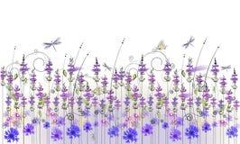 Floral υπόβαθρο των wildflowers Στοκ Φωτογραφία