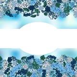 Floral υπόβαθρο doodle Στοκ Φωτογραφίες