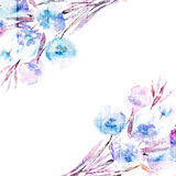 Floral υπόβαθρο. Floral ανθοδέσμη Watercolor. Κάρτα γενεθλίων. Στοκ Εικόνες