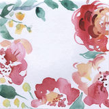 Floral υπόβαθρο Watercolor ελεύθερη απεικόνιση δικαιώματος