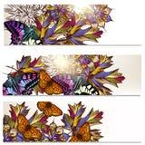 Floral φυλλάδια καθορισμένα Στοκ Εικόνα