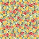 Floral χέρι-πνίξτε το σχέδιο Στοκ Εικόνες