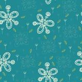 Floral χέρι προτύπων που σύρεται Στοκ εικόνα με δικαίωμα ελεύθερης χρήσης
