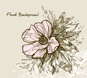 floral χαιρετισμός καρτών Στοκ εικόνα με δικαίωμα ελεύθερης χρήσης