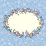 floral χαιρετισμός καρτών Στοκ Εικόνα