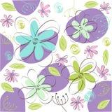 floral χαιρετισμός καρτών διανυσματική απεικόνιση