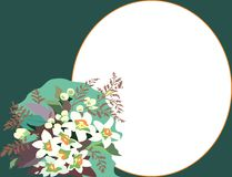 floral χαιρετισμός καρτών Στοκ Εικόνες