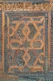 Floral χαραγμένα σχέδια Arabesque του ξύλινου περίκομψου φύλλου πορτών Στοκ φωτογραφία με δικαίωμα ελεύθερης χρήσης
