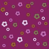 Floral χαριτωμένο επαναλαμβανόμενο υπόβαθρο για τις ταπετσαρίες, τα εμβλήματα και τις καλύψεις Στοκ Εικόνες