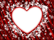 floral χειμώνας διακοπών καρδι ελεύθερη απεικόνιση δικαιώματος