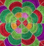 floral χειροποίητο πρότυπο κεντητικής αναδρομικό Στοκ Φωτογραφίες