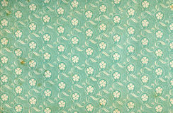floral χρησιμοποιημένη εκλεκτής ποιότητας ταπετσαρία Στοκ Φωτογραφία