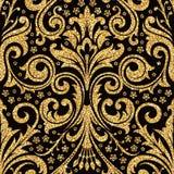 floral χρυσή ταπετσαρία Στοκ φωτογραφία με δικαίωμα ελεύθερης χρήσης