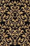 floral χρυσή ταπετσαρία Στοκ Εικόνες