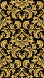floral χρυσή ταπετσαρία Στοκ εικόνα με δικαίωμα ελεύθερης χρήσης
