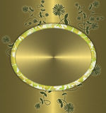 floral χρυσός ανασκόπησης Στοκ εικόνα με δικαίωμα ελεύθερης χρήσης
