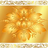 floral χρυσός ανασκόπησης ελεύθερη απεικόνιση δικαιώματος