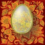 floral χρυσός αυγών Πάσχας ανασ Στοκ Φωτογραφία