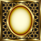 floral χρυσός πλαισίων ανασκόπησης που διαμορφώνεται στοκ φωτογραφία