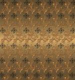 floral χρυσός τρύγος Στοκ Φωτογραφίες