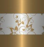 floral χρυσός Στοκ Φωτογραφία