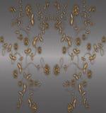 floral χρυσός Στοκ εικόνες με δικαίωμα ελεύθερης χρήσης