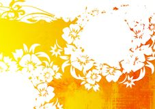 floral ύφος πλαισίων Στοκ φωτογραφία με δικαίωμα ελεύθερης χρήσης