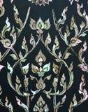 floral ύφος Ταϊλανδός τέχνης Στοκ φωτογραφία με δικαίωμα ελεύθερης χρήσης