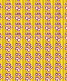Abstract Yellow Floral Seamless Pattern stock illustration