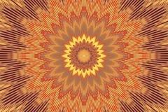 Πορτοκαλί floral καλειδοσκόπιο σχεδίων λουλουδιών αφηρημένος Ινδός ελεύθερη απεικόνιση δικαιώματος