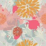 όμορφο floral πρότυπο Στοκ Φωτογραφία