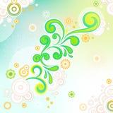 αφηρημένος floral στρόβιλος αν&a Στοκ Εικόνα
