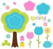Ζωηρόχρωμες λουλούδια και φύση άνοιξη Στοκ εικόνες με δικαίωμα ελεύθερης χρήσης