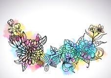Μοντέρνο floral υπόβαθρο Στοκ Εικόνες