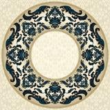 Εκλεκτής ποιότητας στρογγυλό floral πλαίσιο Στοκ Εικόνες