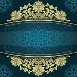 Μπλε εκλεκτής ποιότητας floral υπόβαθρο Στοκ εικόνες με δικαίωμα ελεύθερης χρήσης