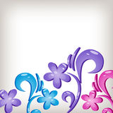Floral 3d background Stock Photos
